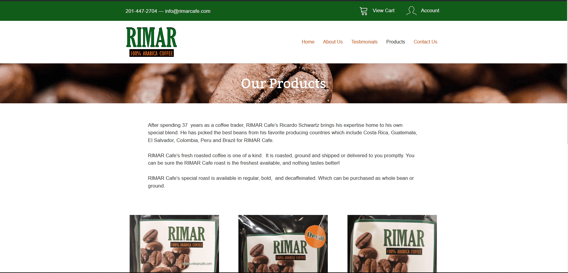 Rimar Cafe Products